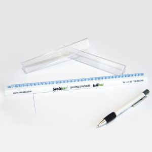 pen not included with this ruler